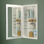 Jensen 1035P24WH Cove Frameless Medicine Cabinet with Polished Mirror, 16-Inch by 26-Inch, White