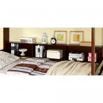 Furniture of America Contemporary Carla Twin over Twin Bunk Bed with Storage, White, Metal, Twin Over Twin