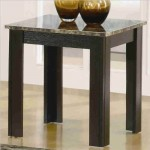 Black Finish Marble Looking 3 Piece Table Set