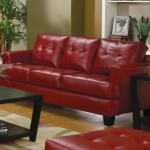 Coaster Home Furnishings Casual Contemporary Sofa, Red
